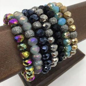 Jewelry - fashion 10mm crystal bracelets 7pcs gift set